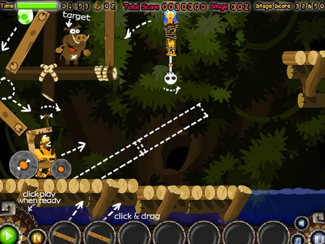 小游戏:石器抓野猪