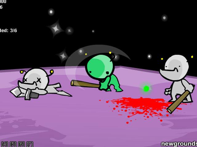 小游戏:狂扁外星人