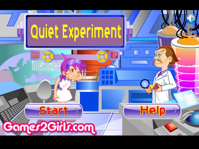 小游戏:女孩做实验
