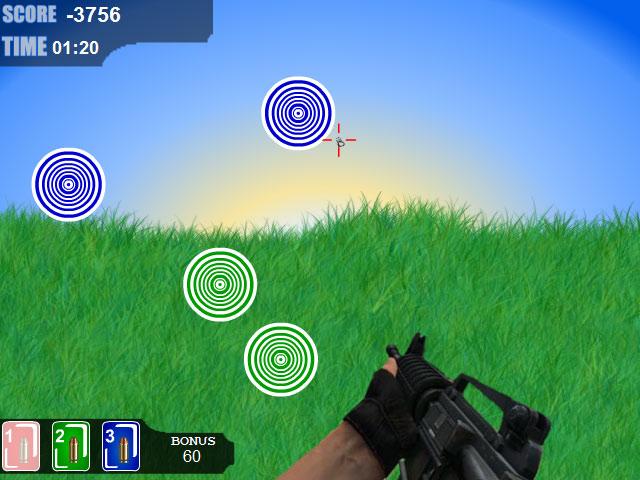 小游戏:红黄蓝射击