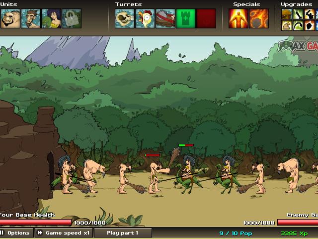 小游戏:原始人战争2