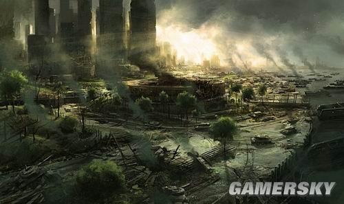 《孤岛危机2》概念图赏:被摧毁的世界