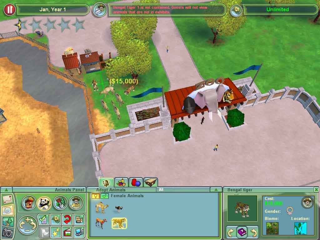 模拟经营游戏《动物园大亨2》试玩