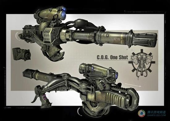 《战争机器3》人物和武器游戏设定图