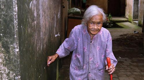 105岁拾荒养子
