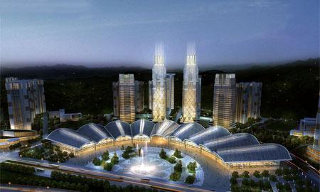 龙国际会展城鸟瞰图