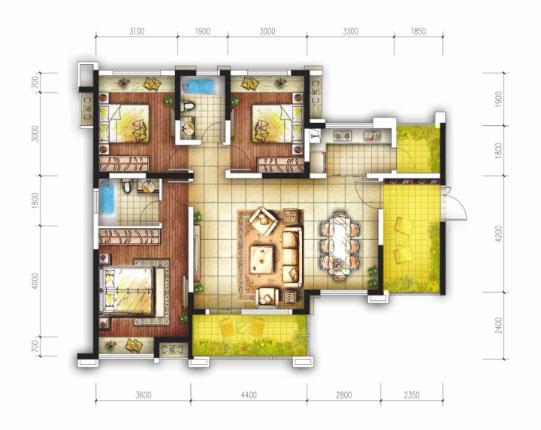 十米长七米宽房屋设计图展示