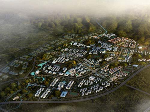 大学城鸟瞰图