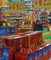 武汉超市各色年货热卖ing