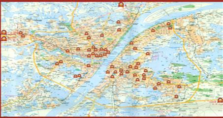 华师石牌手绘地图