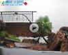 武汉特大暴雨 导致南湖边豪宅道路大面积塌陷
