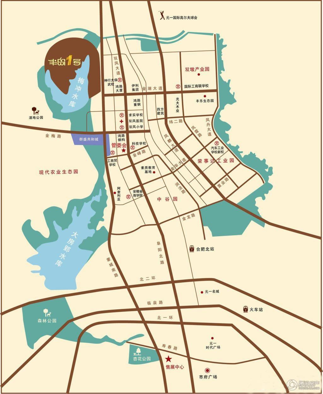 合肥新桥阳光半岛地图