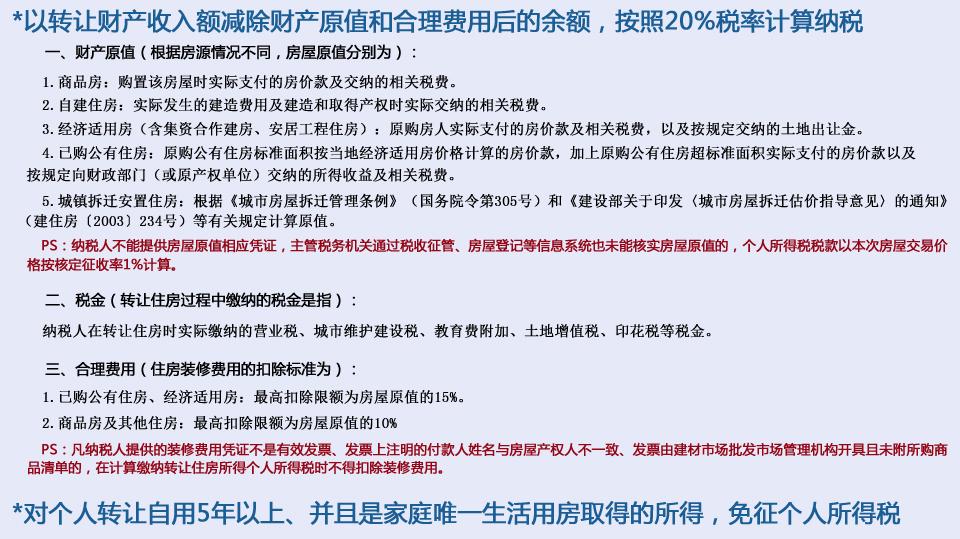 北京地税局详解二手房交易个税征收
