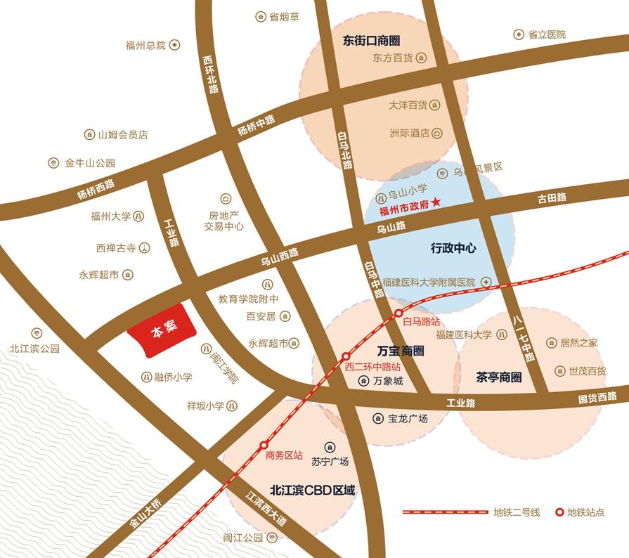 福州大学手绘地图