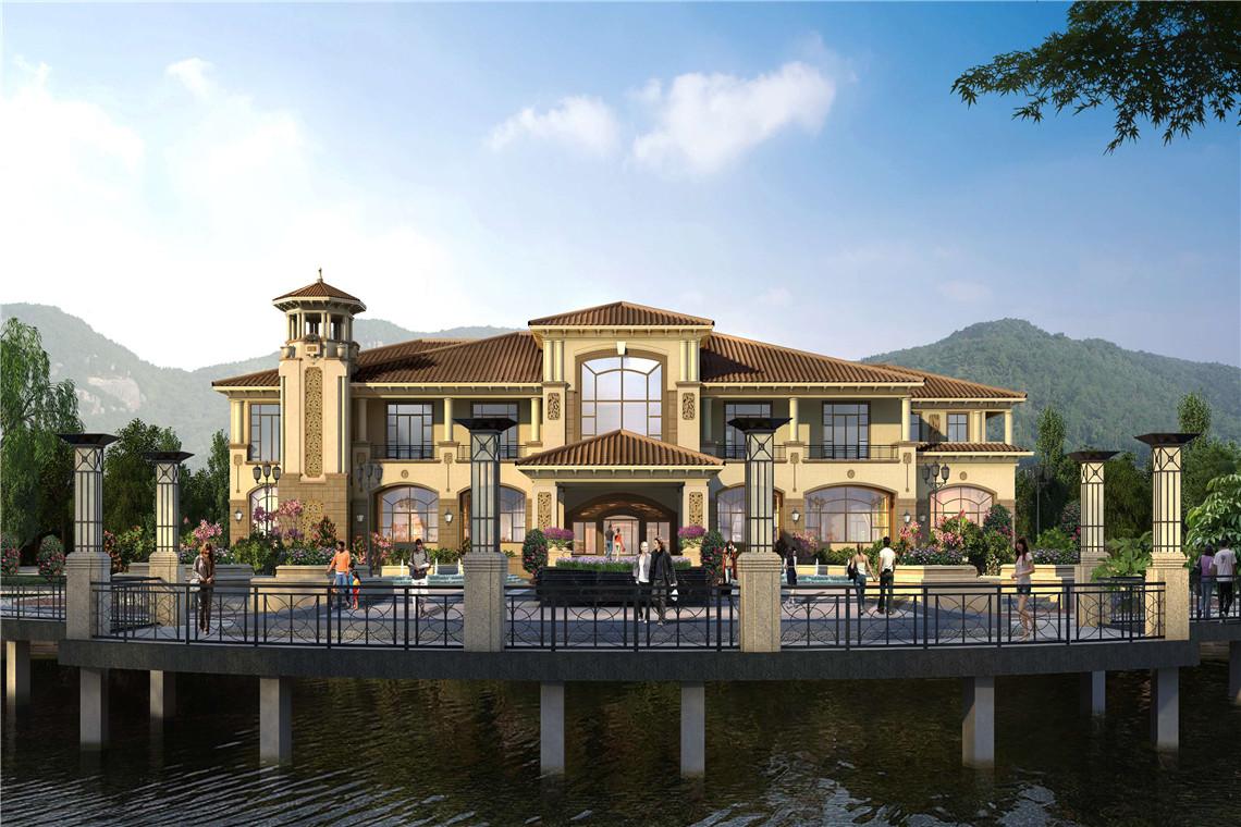 目位于厦门湾滨海新城,对望双鱼岛,坐拥湖海山三重景观资源.