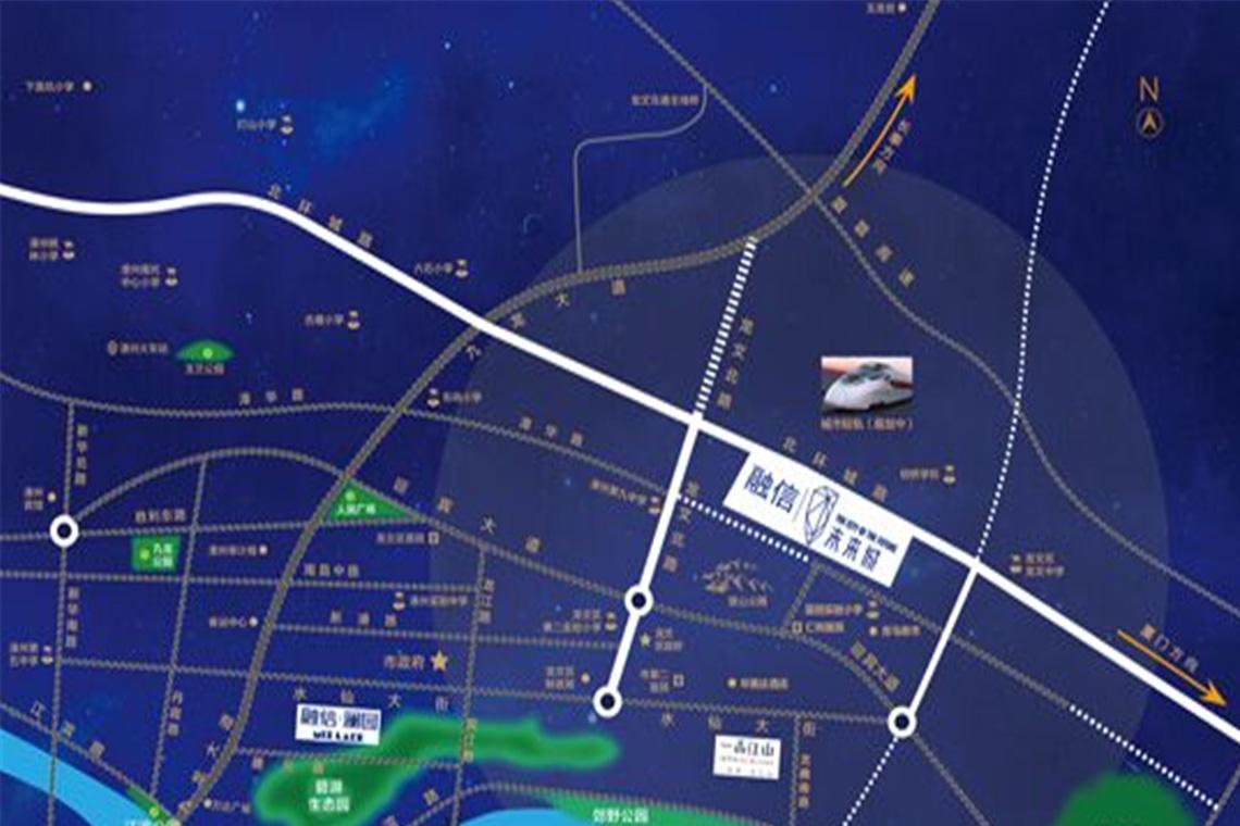 区位图 项目位于蓝田开发区,处于漳州市龙文区北环城路,西南邻2万㎡
