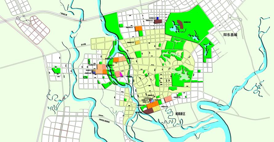 广州市花都区手绘地图