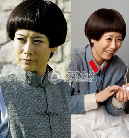 海清靓发型再掀大热复古风(组图)于意头型图片