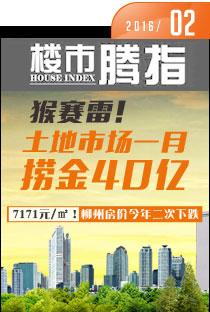 腾讯房产柳州站•楼市指数2016年2月