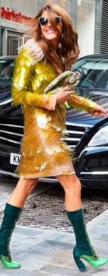 伦敦街拍亮片裙