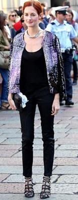 米兰时装周渐变外套
