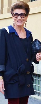 米兰时装周街拍优雅蓝