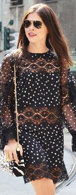 米兰时装周街拍透视裙