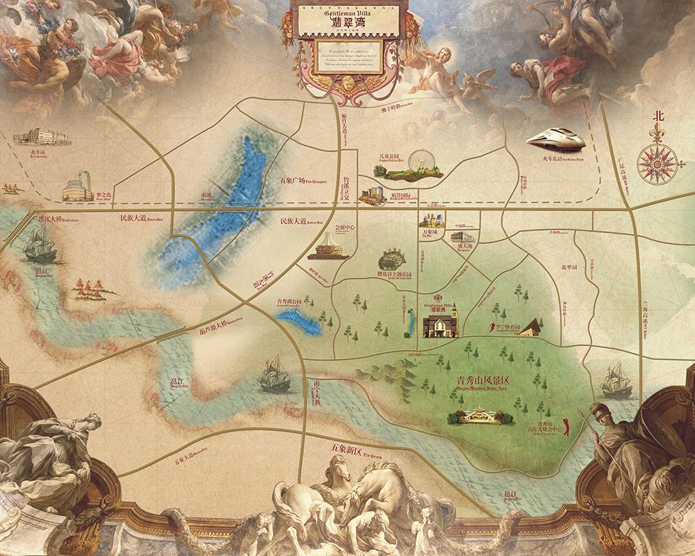 儿童手绘地图   柳州