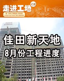 佳田新天地8月份工程进度
