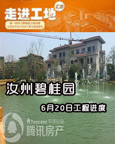 汝州碧桂园6月20日工程进度