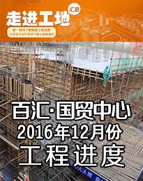 百汇国贸中心12月工程进度