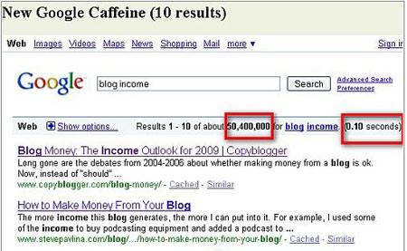 谷歌完成Caffeine索引系统开发:时效性增50%
