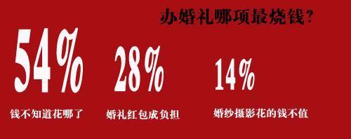 54%网友结婚不知道钱花到哪里去了
