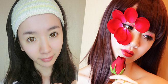 玫瑰花瓣之舞 详细步骤解析超妩媚花瓣妆图片
