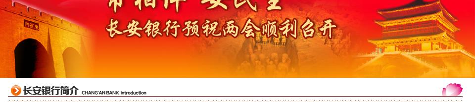 长安银行是在陕西省委、省政府主导下,在合并重组省内原5家地方法人金融机构基础上,引入11家战略投资者,经中国银监会批准,以建设合并方式组建的法人股份制商业银行。2009年7月开业,总部设在西安市。现下辖8个分行、5个直属支行,共有营业网点81家,遍布陕西10个地市。长安银行发起并控股设立陕西首家村镇银行宝鸡岐山硕丰村镇银行。 经过三年努力,长安银行资产规模、运行质量和盈利能力大幅增长,社会影响力和知名度持续提升,支持地方经济发展、回报股东和社会的能力显著增强。2010年末,长安银行提前一年半实现了省委主要