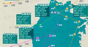 宁杭甬高铁开通在即 浙江高铁新版地图
