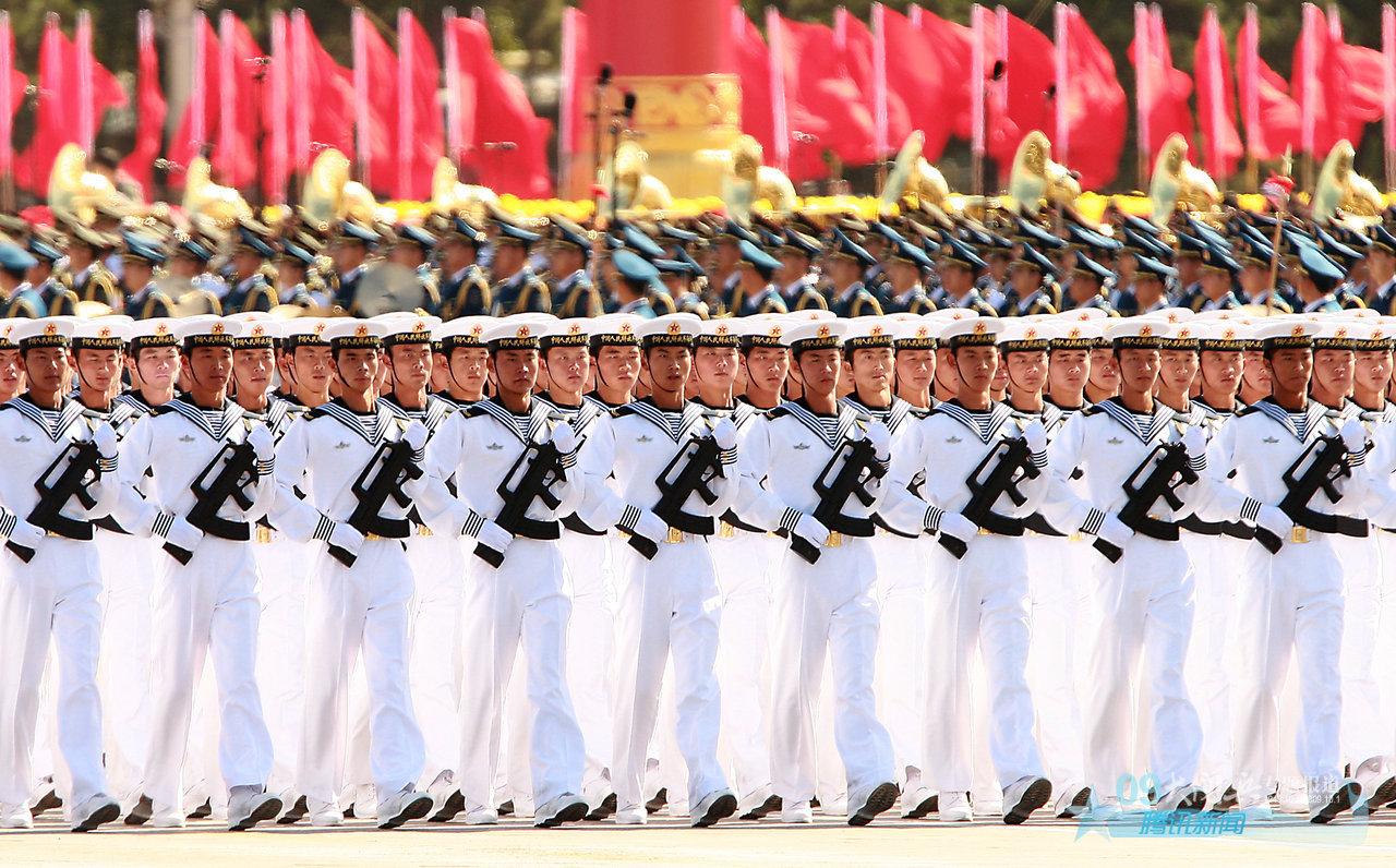 中国海军陆战队女兵_2009年大阅兵壁纸集_新中国成立60周年_新闻中心_腾讯网