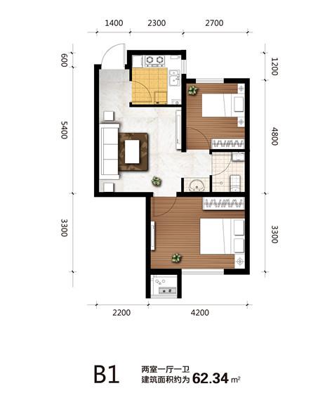 長方形小戶型裝修設計圖展示